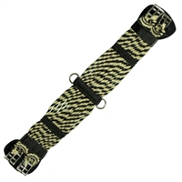 Montana Cincha Dressage Girths - Black and Tan Mohair
